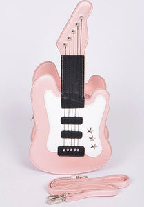 Pink Guitar Crossbody
