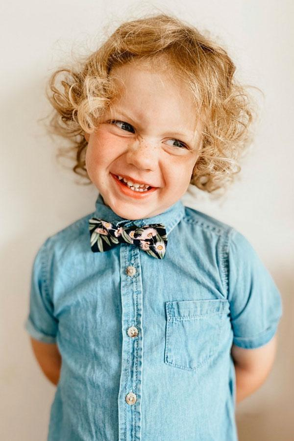 Kids Bow Tie Flowering Gum page boy