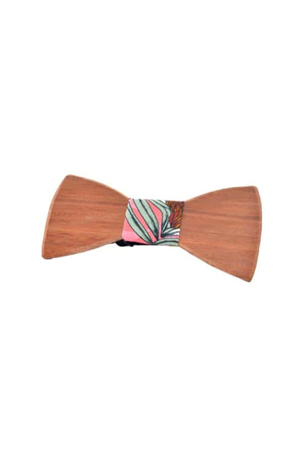 Wooden Bow Tie Banksia Pink Groom Accessories