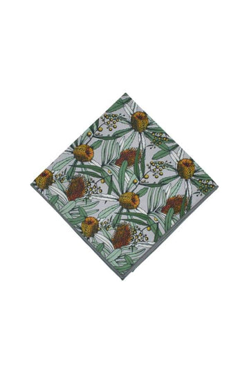Banksia_Grey_Cotton_Pocket_Square_Native_Peggy_and_Finn