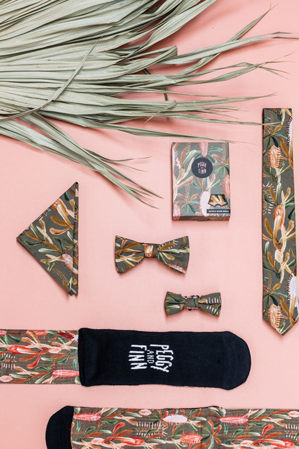 Kids Bow Tie - Grass Tree Sage