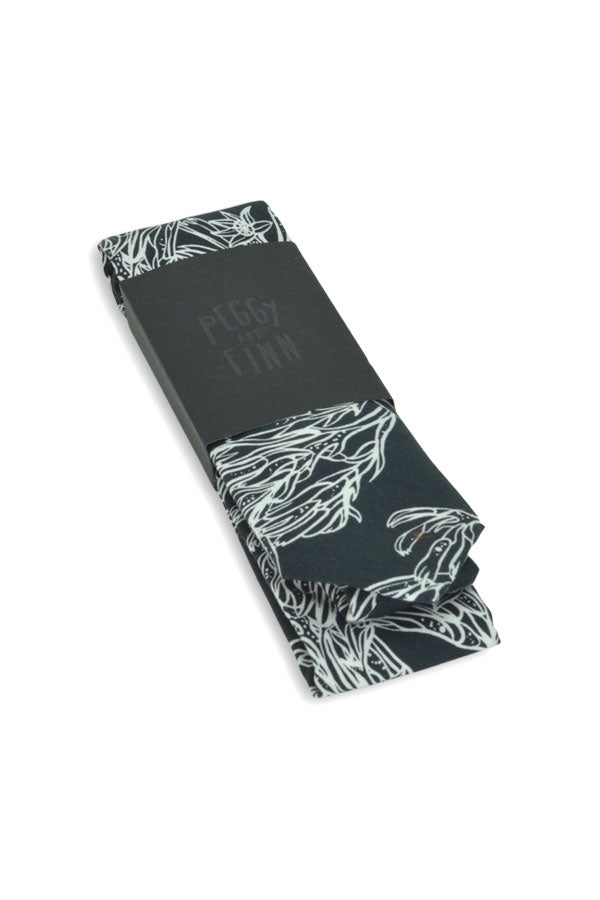 Cotton Tie - Kangaroo Paw Black