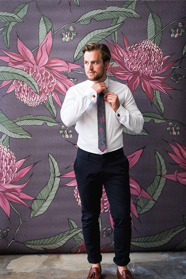 Cotton Tie Waratah Wedding