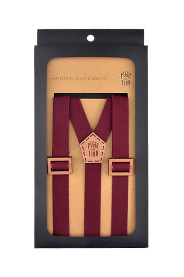 Ethan Wooden Suspenders Groom