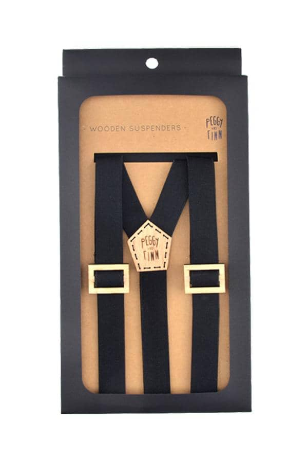 Wooden Suspenders Fergus Black