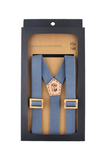 Wooden Suspenders Harry Wedding