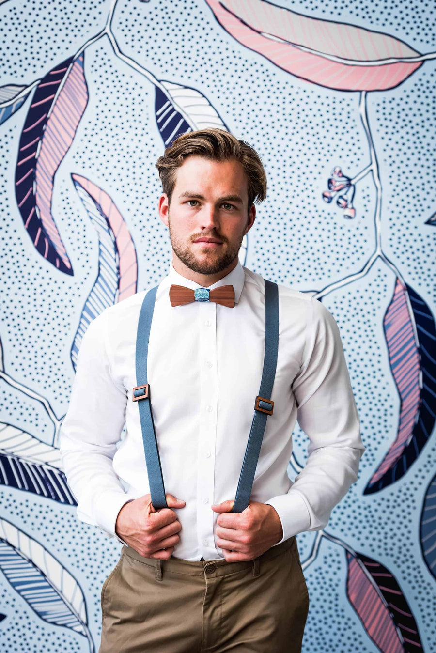 Wooden Suspenders Harry Grey