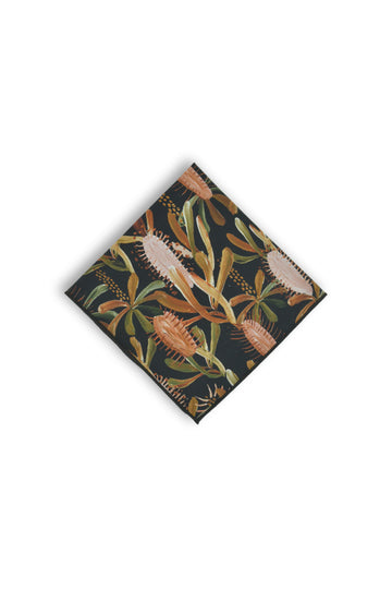 Pocket Square - Grass Tree Black
