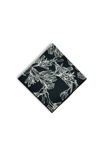 Pocket Square - Kangaroo Paw Black