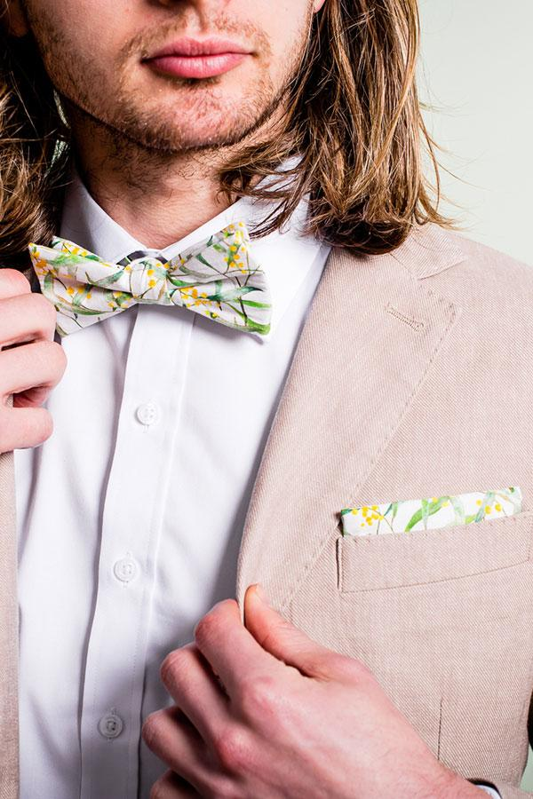 Pocket Square Wattle Wedding
