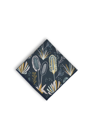 Pocket Square - Coastal Flora