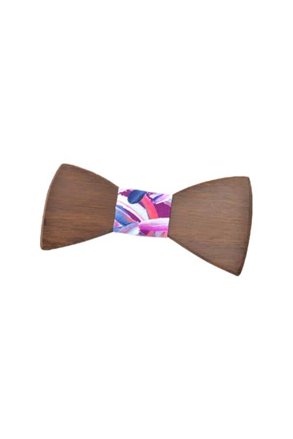 Wooden Bow Tie - Protea Burgundy
