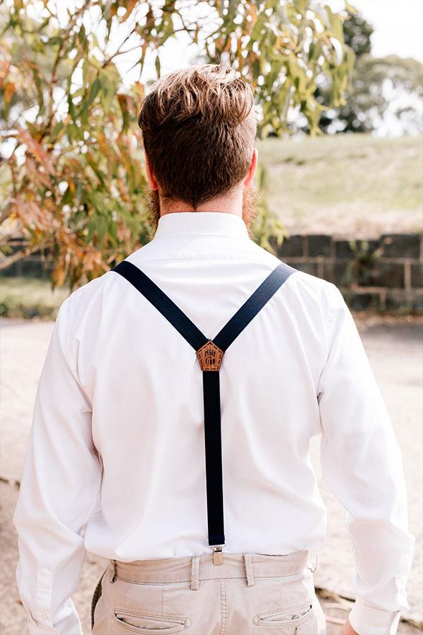 Wooden Suspenders Groom