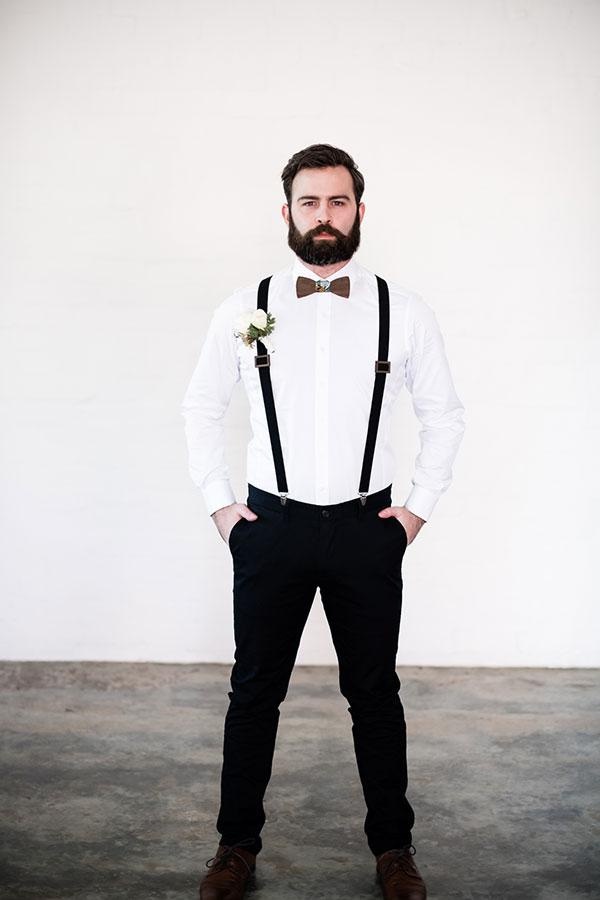 Charlie Wooden Braces Groom