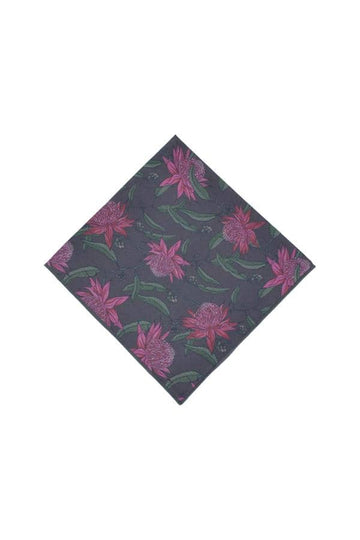 Waratah_Cotton_Pocket_Square_Native_Peggy_and_Finn