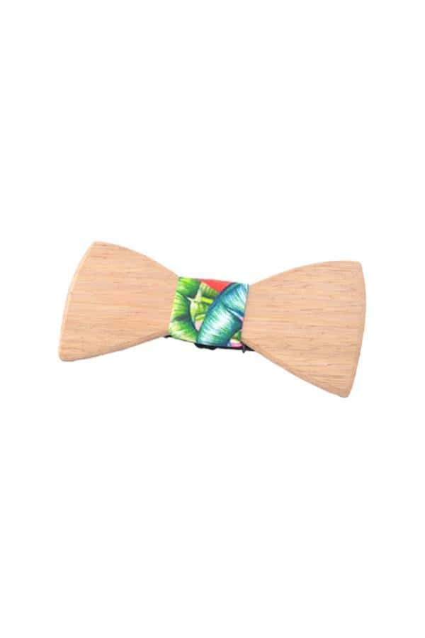 Wooden Bow Tie Watermelon light wood