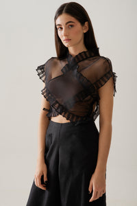 Cruz top in silk organza