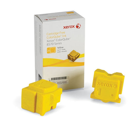 Xerox<sup>&reg;</sup> Yellow Solid Ink (2 Sticks/Box) (Total Box Yield 4400)