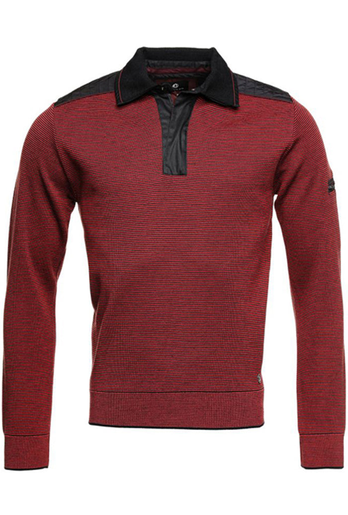 Impulso Nautical Zip Polo Red