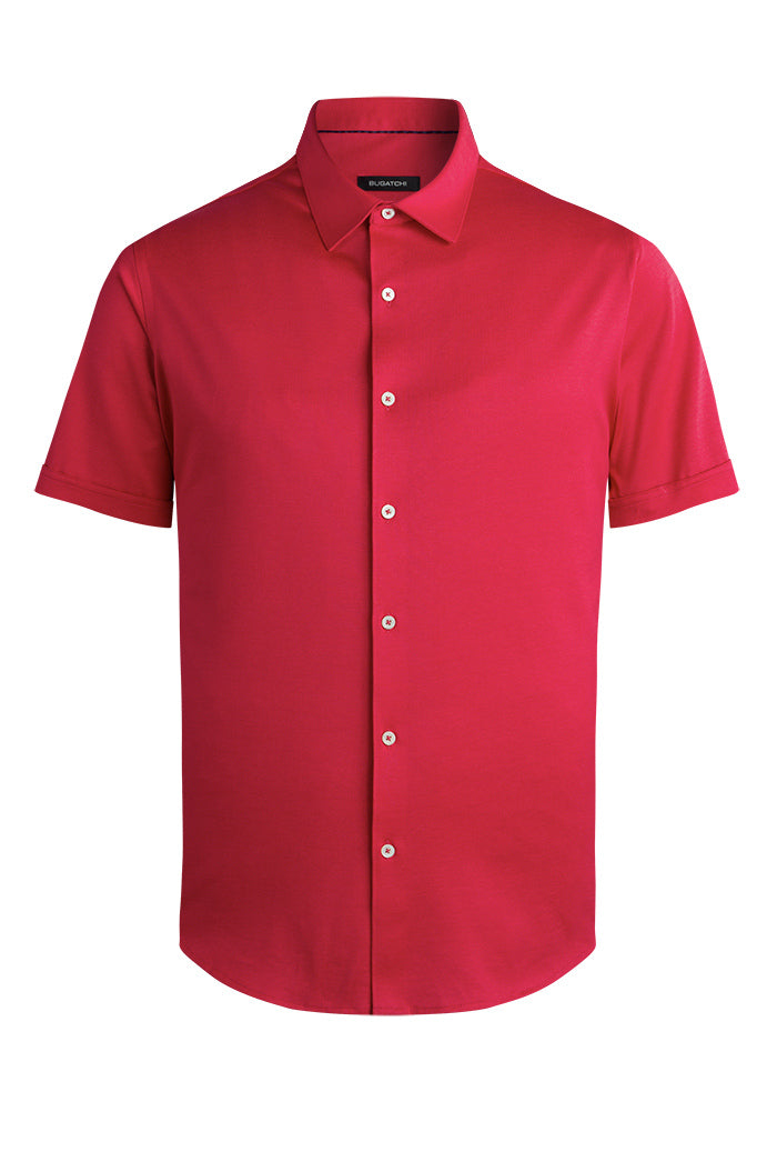Bugatchi Short Sleeve Shirt NF9326S52 Echo Red
