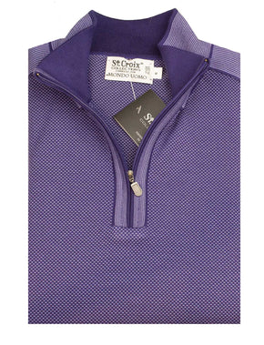 St Croix Sweater Zip Mock Amethyst