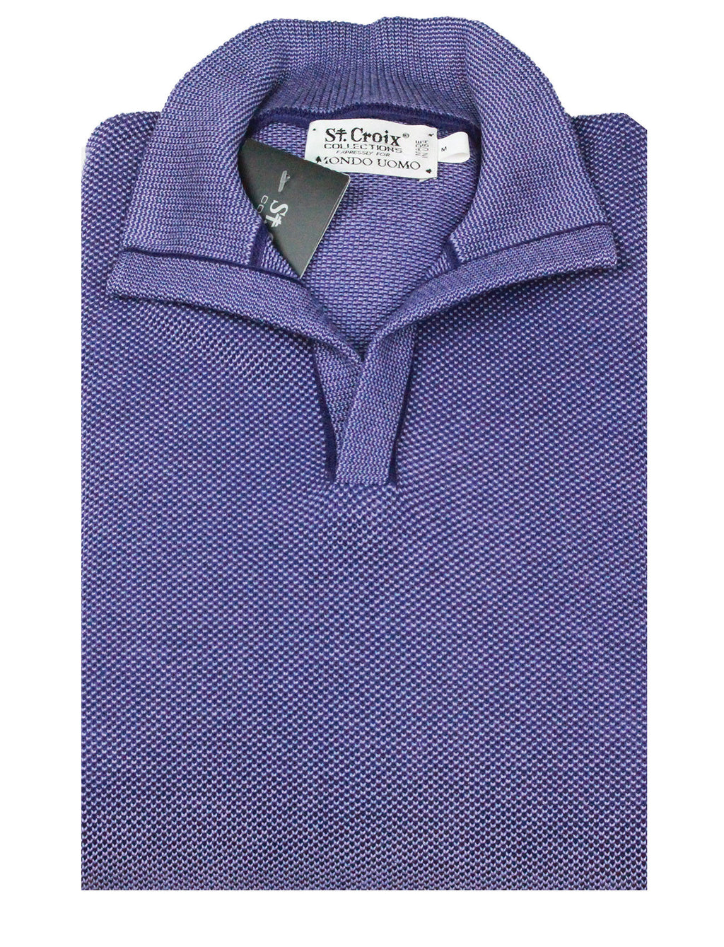 St Croix Sweater Open Mock Amethyst