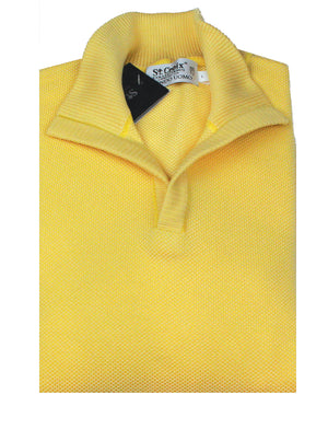 St Croix Sweater Open Mock Neck Maize