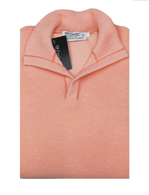 St Croix Sweater Open Mock Neck Nectar