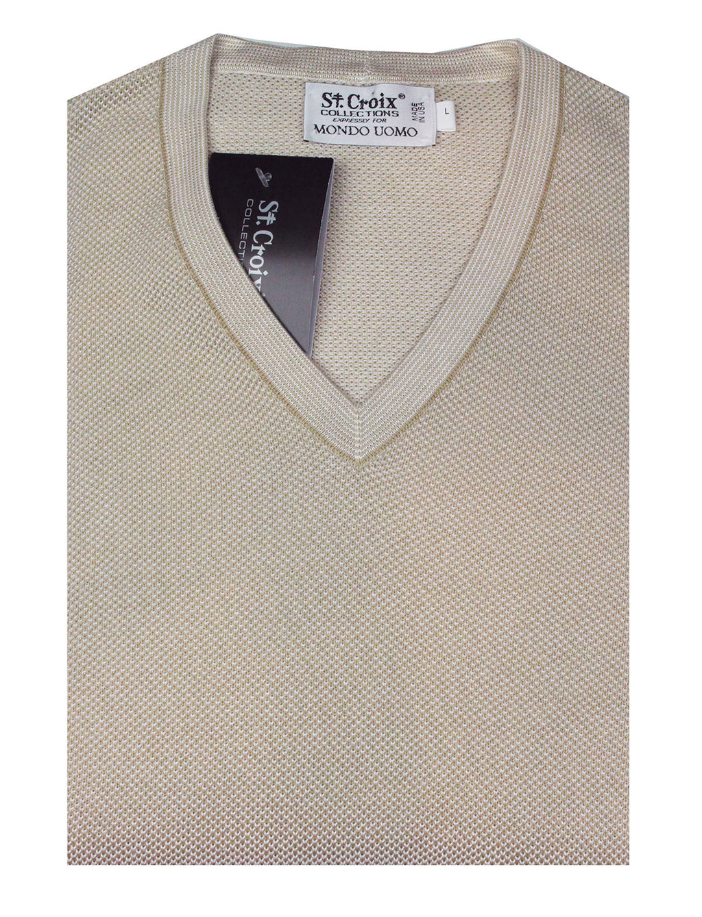 St Croix Sweater V Neck Almond