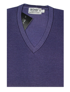 St Croix Sweater V Neck Amethyst