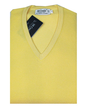 St Croix Sweater V Neck Maize