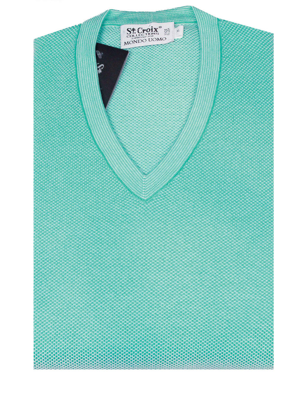 St Croix Sweater V Neck Turquoise