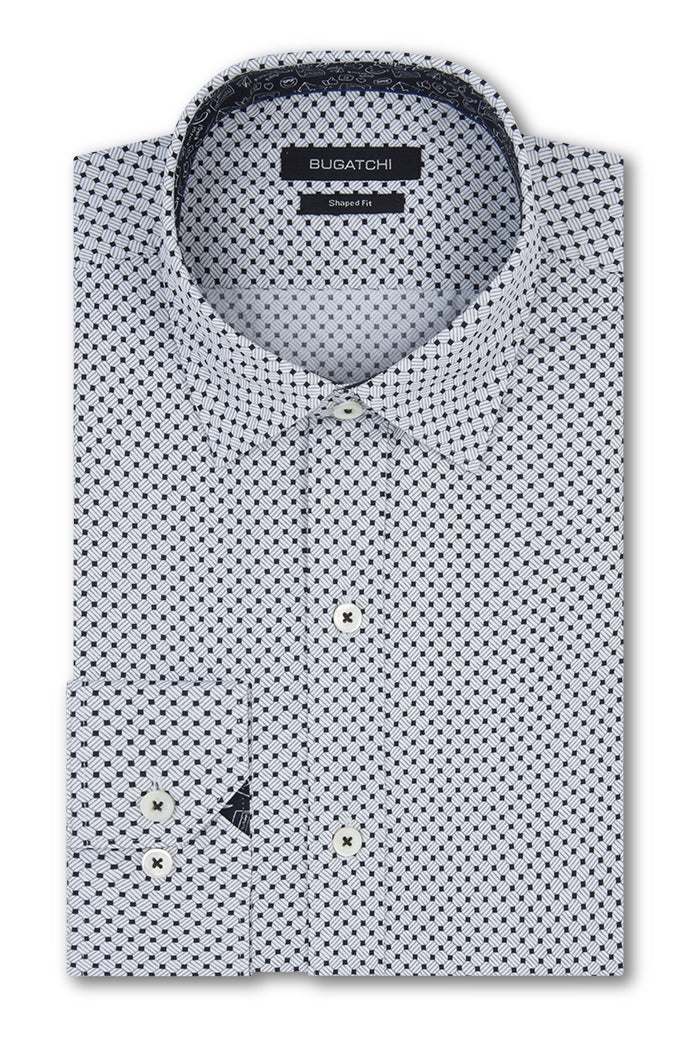 Bugatchi Shirt MS9201R66- Platinum