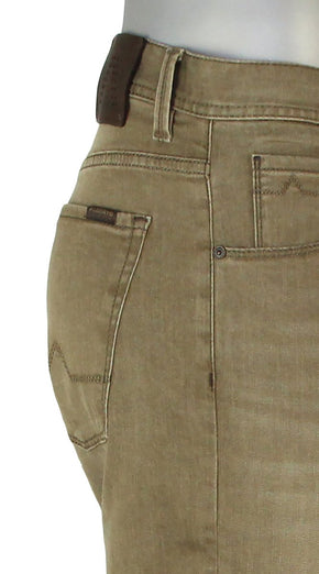 ALBERTO JEANS DENIM STONE SUPER STRETCH CAMEL ST1587-575 1587 SUPER FIT KHAKI