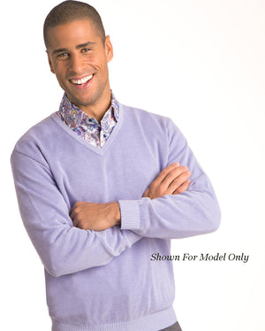 St Croix Sweater V Neck Lead Marl