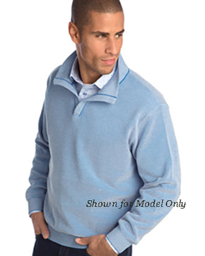 St Croix Sweater Open Mock  Coastal Blue