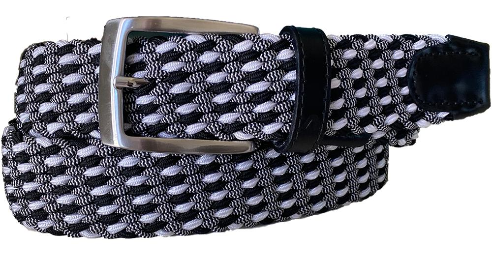 ALBERTO BRAIDED MULTICOLR BELT NAVY/WHITE