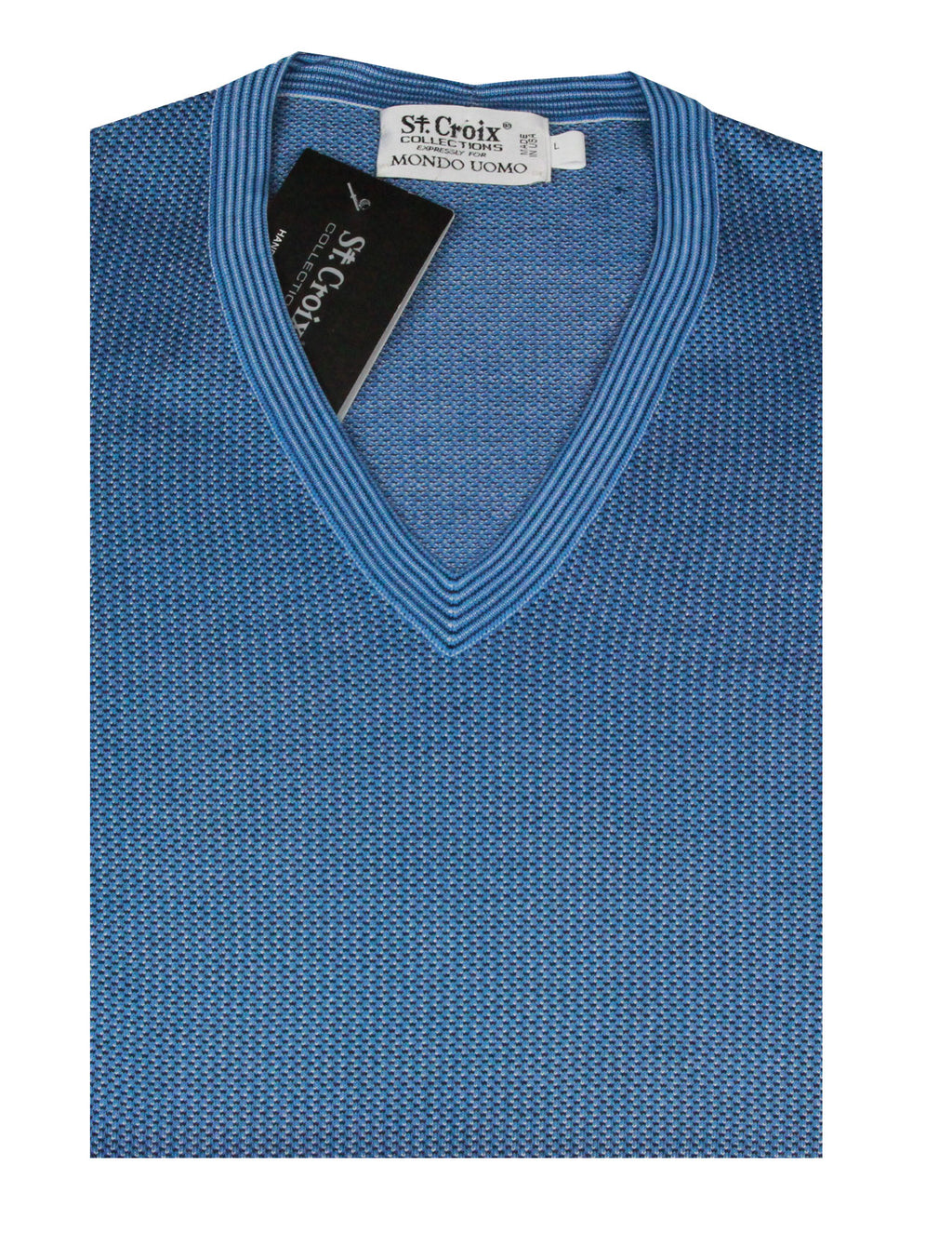 St Croix Sweater V Neck Coastal Blue