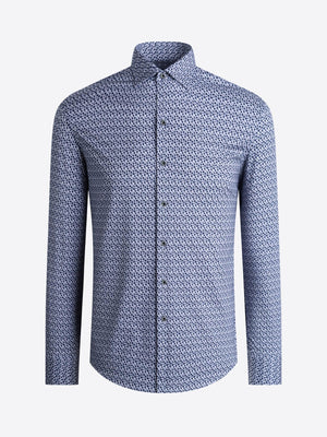Bugatchi OOH Cotton L/S Shirt Patinum PF2014K64