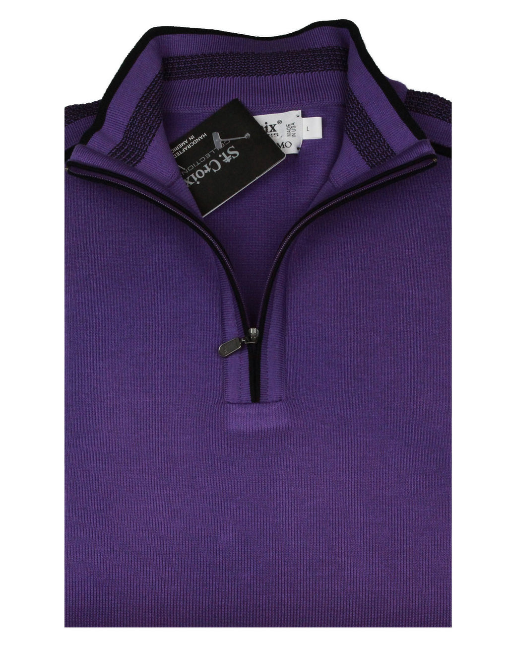 St Croix Sweater Zip Mock  Empire