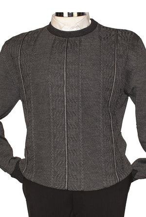 Marcello Crew Sweater Charcoal