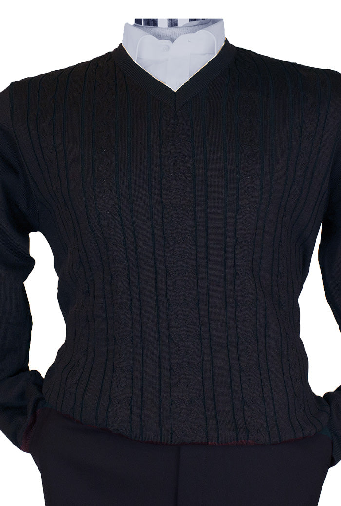 Montechiaro V Neck Sweater Navy