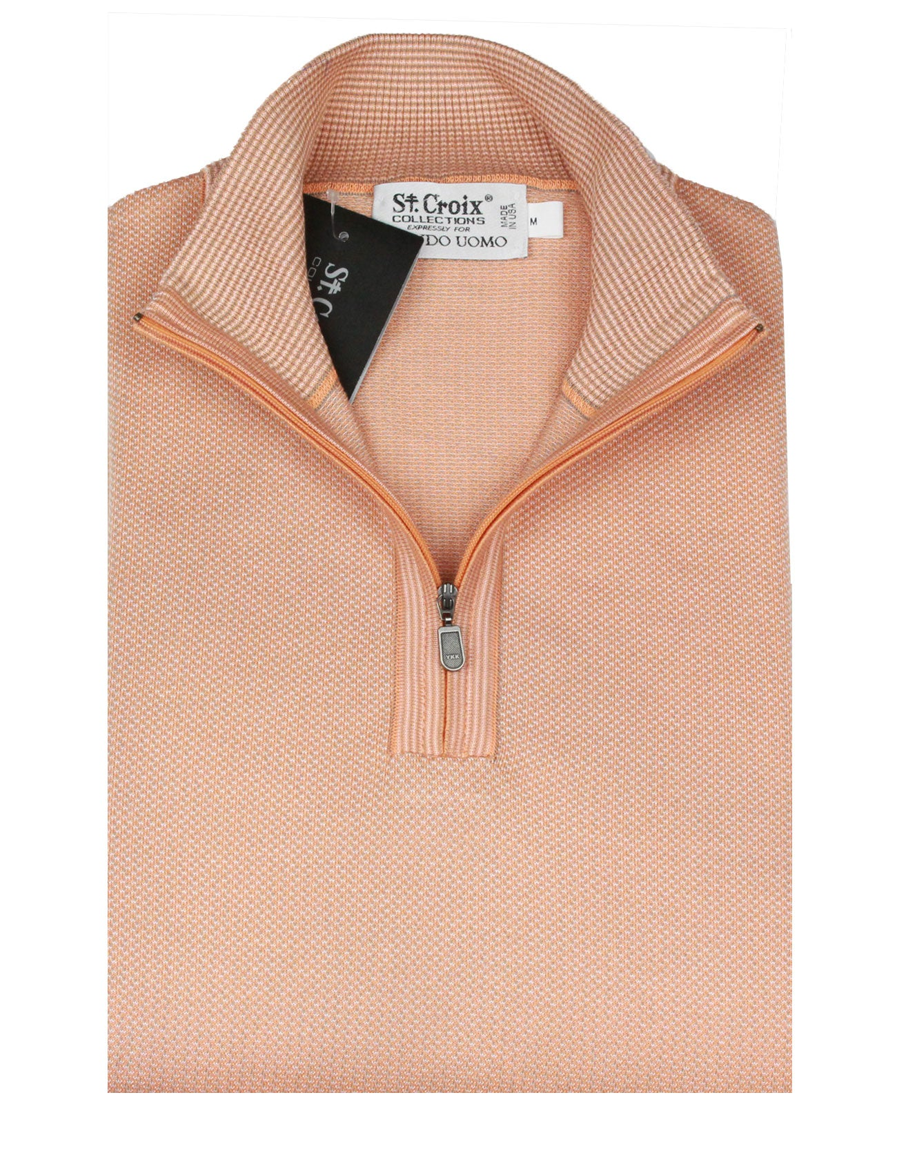 St Croix Sweater Zip Mock Nectar
