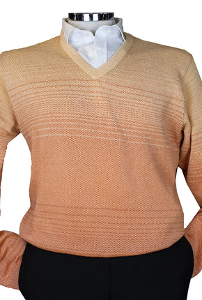 St Croix Ombre V Neck Orange 5832