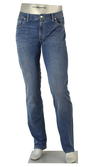 ALBERTO JEANS DENIM STONE SUPER STRETCH BLUE ST1587-855 1587 SUPER FIT