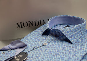 Marcello Long Sleeve Blue Dots