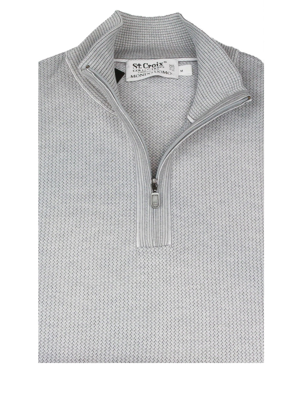St Croix Sweater Zip Mock White