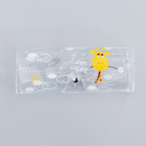 1 PCS Cartoon Cute Travel Transparent PVC Eye Glasses Cosmetic Makeup  Earphone Organizer Bag Case
