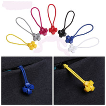 Charger l'image dans la galerie, 5Pcs Zipper Pull Puller End Fit Rope Tag Fixer Zip Cord Tab Replacement Clip Broken Buckle Travel Bag Suitcase Clothes Tent
