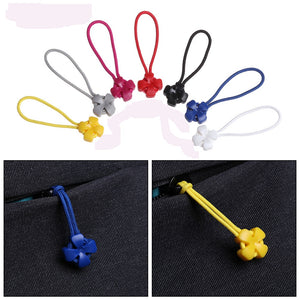 5Pcs Zipper Pull Puller End Fit Rope Tag Fixer Zip Cord Tab Replacement Clip Broken Buckle Travel Bag Suitcase Clothes Tent
